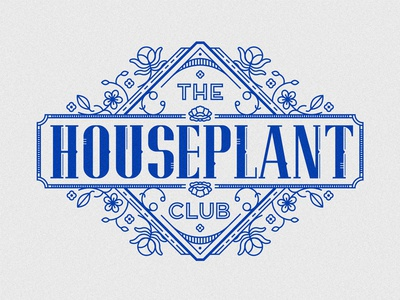 The houseplant club floral border flower leaves plants houseplants club