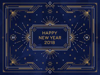 Happy New Year! 2018 happy new year new year celebration