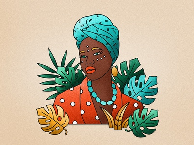Portrait of an african woman fashion woman lady african leaves feminism portrait africa