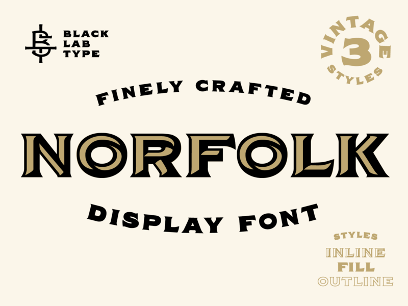Norfolk - Vintage Display Font vintage lettering typography display typeface display type display font vintage type vintage typeface vintage font