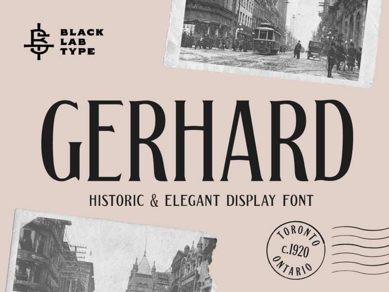 Gerhard - Vintage Display Font typography vintage typeface vintage type vintage lettering vintage font display typeface display type display font