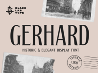 Gerhard - Vintage Display Font