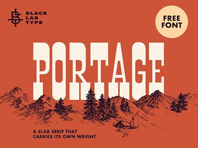 Portage: Free Font slab serif vintage typeface vintage type vintage lettering vintage font typography display typeface display type display font