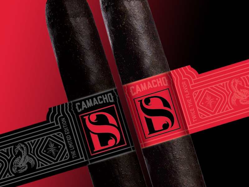 Double Shock pairs two double lettermark monogram letter mark monogram logo monogram stinger scorpion scorpio tobacco line art line logo art direction illustration wrapper cigars cigar