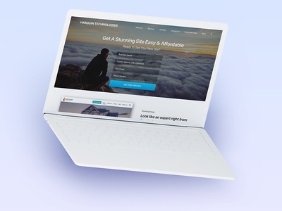 Harquin Tech Landing Page Mock Up