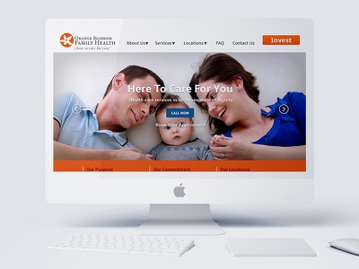 Landing Page for Health Care for the Homeless mock up web design freelance