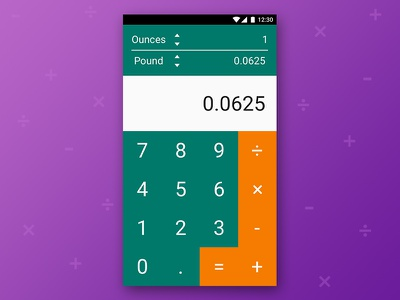 Daily Ui Challenge #004 004 dailyui duic calculator app design