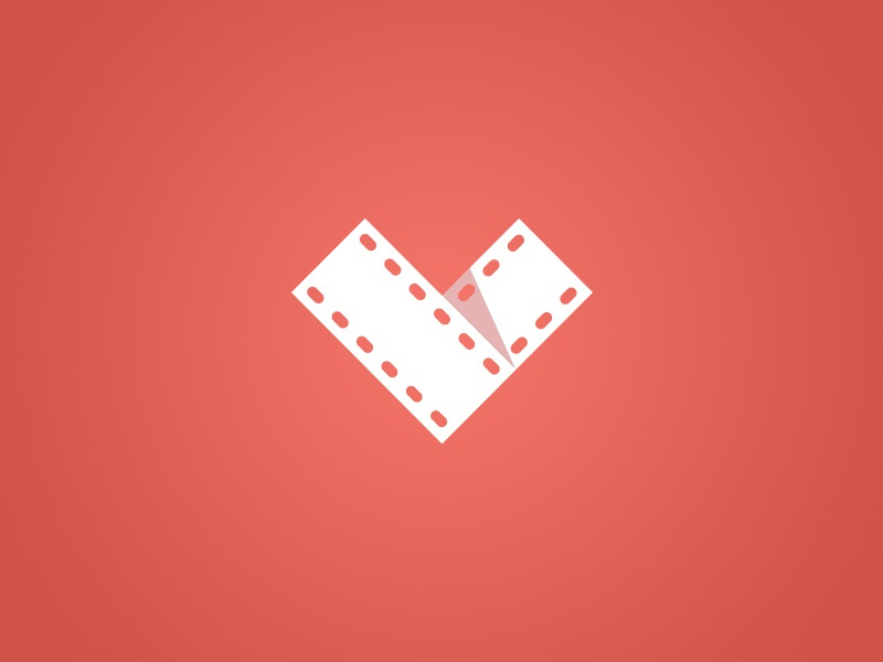 Film Logo app icon logo film photography camera flat