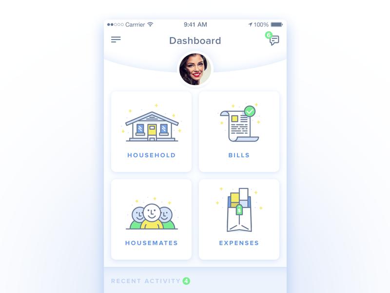 House Share App Ui By Jake Ranallo Dribbble Dribbble
