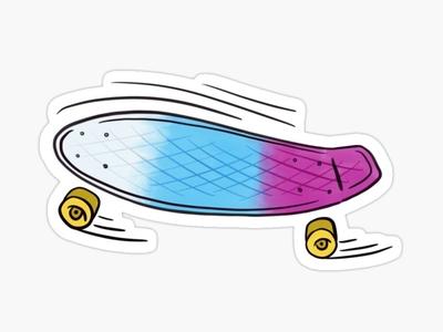 Penny Board Sticker