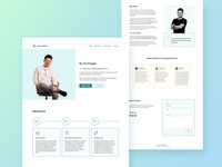 One-page Personal Website for eCommerce Expert