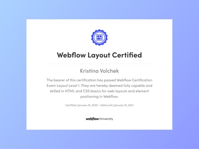 Webflow Layout Certification - Expectations vs Reality css html website web design webflow agency webdesigner webdesign graphic design graphicdesign figmadesign figma layout design layout webflow certificate certification certificates certificate certified webflow