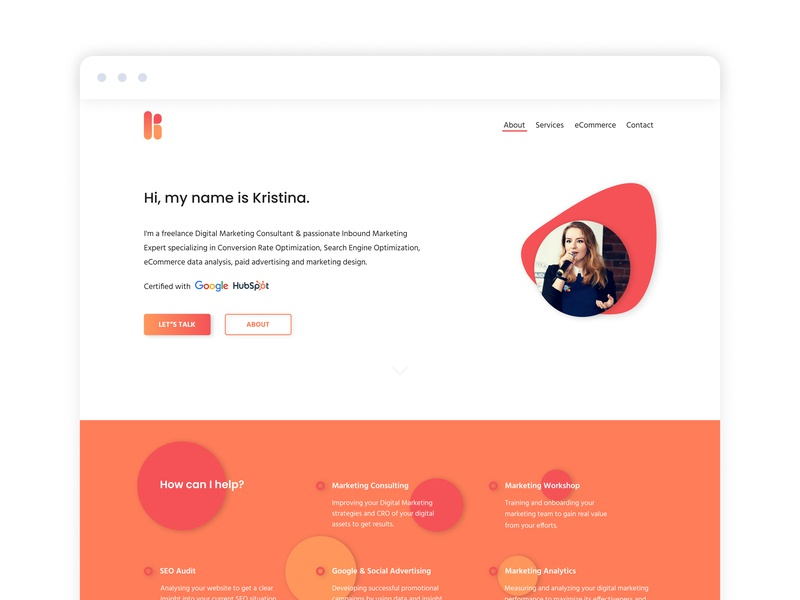 Kristina Marketing' Digital Marketing Landing Page by Kristina