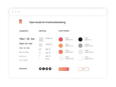 Style Guide for Kristina Marketing