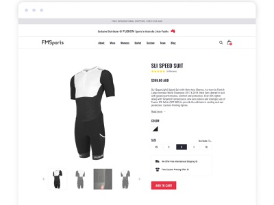 Minimalist Product Page for a Boutique Sport Store product product page minimalistic minimalist ui flatdesign fashion flat design online store online shopping online shop ecommerce shop shopify store landing page ecommerce design ecommerce design web design shopify webdesign