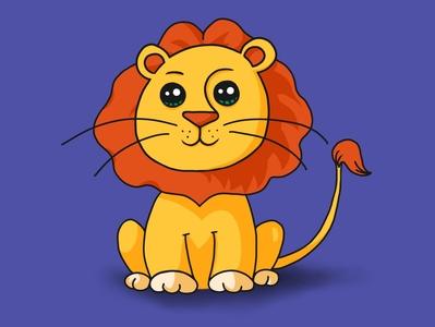 Alioned Lion Illustration