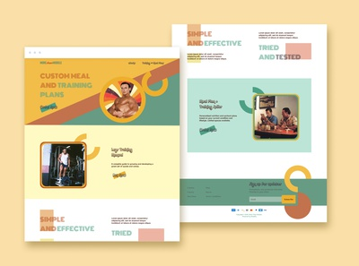 Vintage 70s Style Inspired Landing Page Concept
