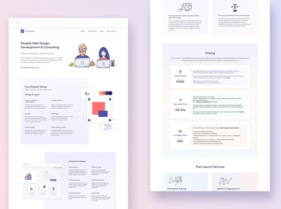 Pricing Page Design for a Marketing and Web Design Agency