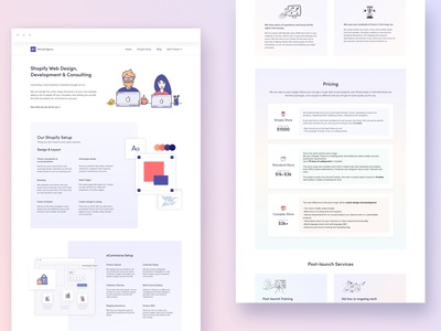 Pricing Page Design for a Marketing and Web Design Agency webflow design ux webdesign ui illustration flat design landing page website pricing page pricing shopify shopify store marketing agency web agency agency website branding web design agency landing page