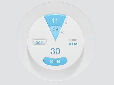 Modern Clock Interface clock ui