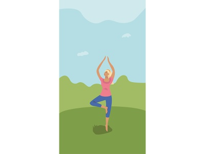 Health app stories instagram stories yoga health design drawing adobe illustrator vector illustrator flat illustration