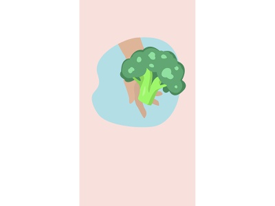 Health app stories instagram stories broccoli food health drawing design adobe illustrator vector illustrator flat illustration