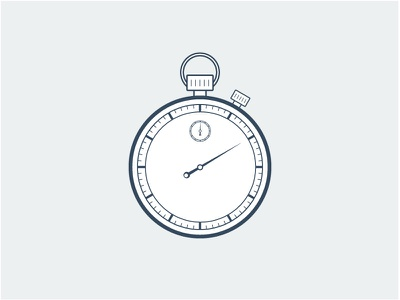Stopwatch clock time illustration line stopwatch face watch