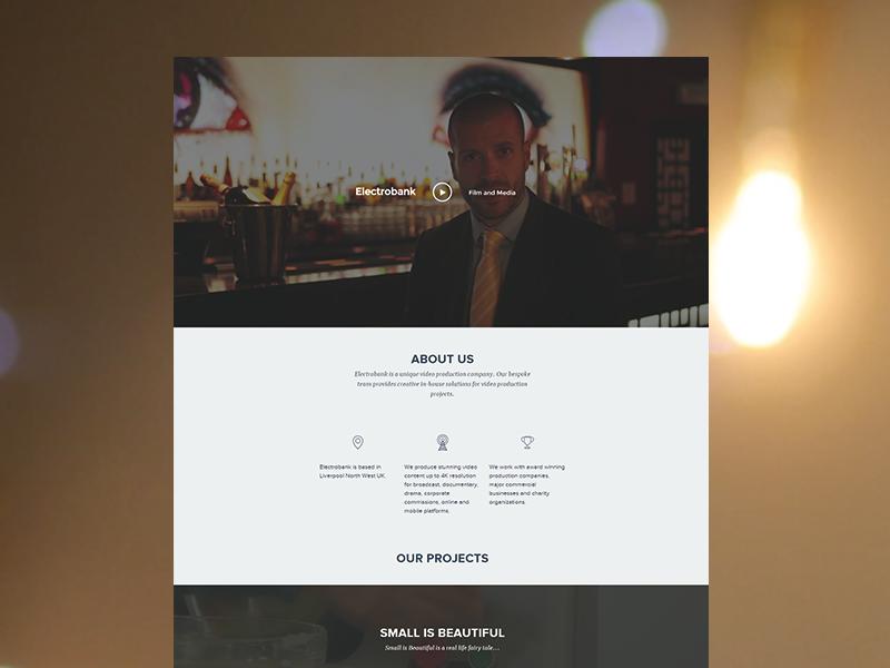 Electrobank Media  portfolio website video media clean minimal