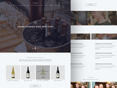 Wine Merchant landing page web design wine minimal landing page home page clean