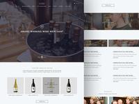Wine Merchant landing page