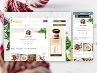 My Good Food refresh profile food desktop. mobile web ux ui layout landing interface digital