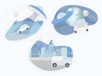 👽Empty states empty states ufo vector design activity space app web design ui illustration