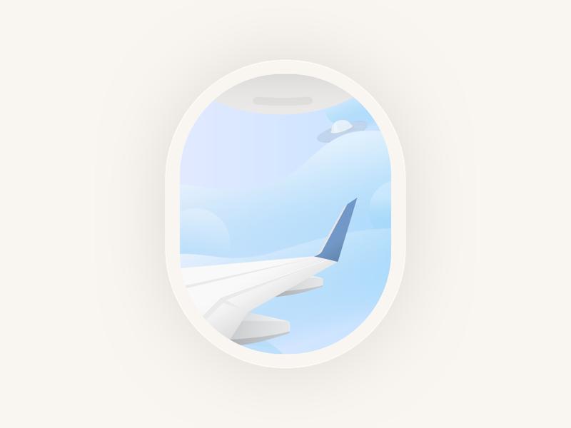Flight empty state 👽 flights ui ufo website ux typography vector space landing page app web design minimal illustration clean