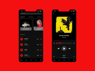 Mobile app - Music player
