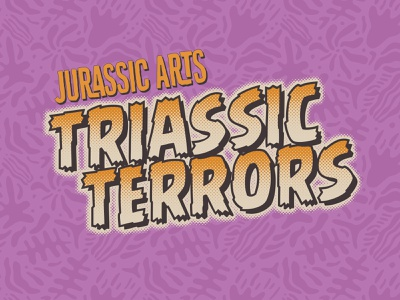 Triassic Terrors logo logo vintage comic book retro vector typography package design packaging branding graphicdesign toys dinosaur