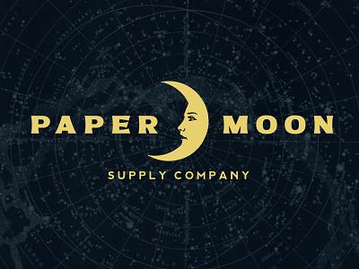 Paper Moon Supply Co. logo elegant design vintage graphic design retro branding logo ephemera