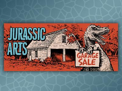 Jurassic Arts Garage sale ecommerce design ecommerce dinosaur self promotion typography design illustration graphic design retro