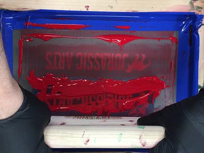 JURASSIC ARTS PRINTING toys logo branding design packaging dinosaur printmaking silkscreen
