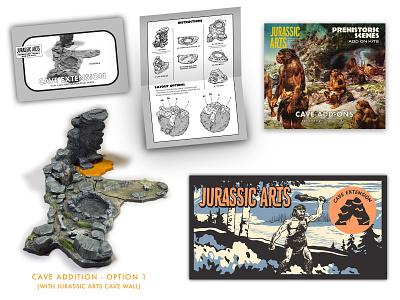 Krog need more room for baby krog handmade maker diy packaging branding caveman prehistoric dinosaur gaming miniatures props painting sculpture toys