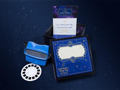 Trip to the Moon Wedding Invitation scifi movies viewmaster invitation wedding