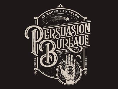 Persuasion Bureau Mystic Badge halloween self promotion illustartion typogaphy esoteric vintage logo badge