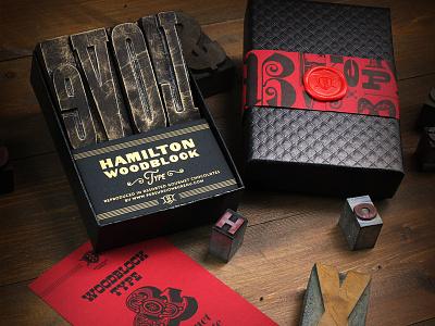 Hamilton Woodblock Type Chocolates vintage retro graphic design design typography letterpress packaging chocolate woodtype