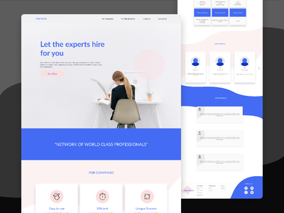 Landing page | Hiring Tech Industry typography technology landingpage branding ux colours ui figma design