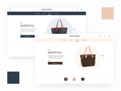 Bag landing page concept landing page louis vuitton bag fashion colours creative ui branding figma design