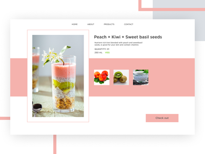Customised Juices | Product Page edge ux design food product figma ui debut shot