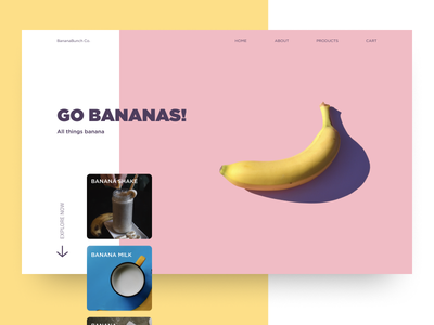 Go Bananas! design product page banana food typogaphy ux ui figma