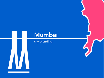 Mumbai city branding concept illustrator mumbai colours city branding logo figma design