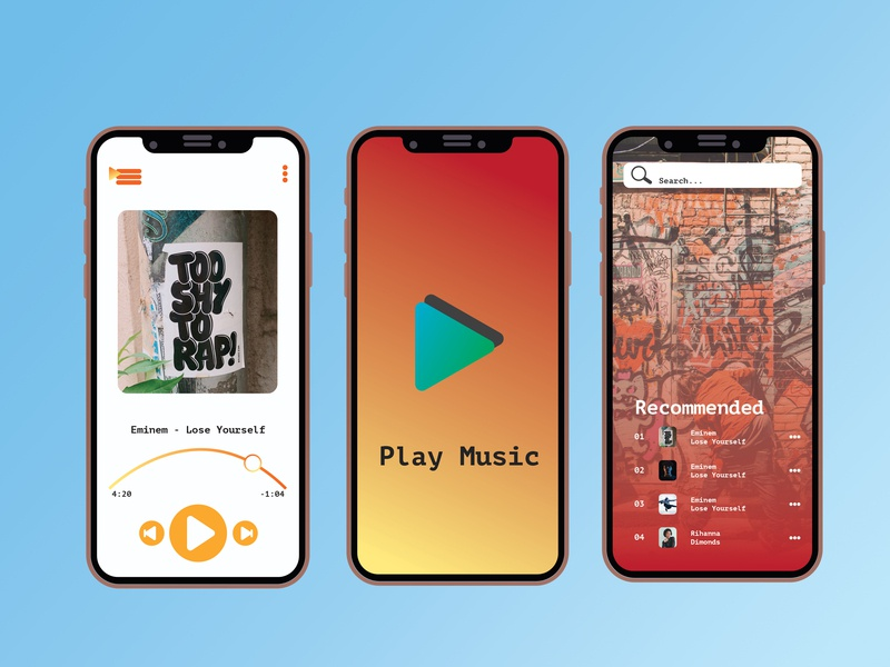 Media Player music art web vector adobe print logo ui ux hello dribbble photo post poster design illustration branding apple app music player musicapp music