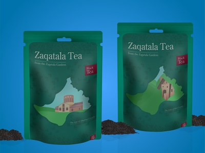 Zaqatala Tea Packaging Concept vector adobe typography poster photo hello illustration branding design packagingdesign packaging tea