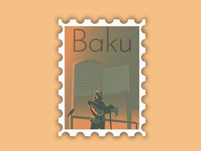 Baku photoshop hello dribbble vector hello poster photo illustration branding design typography dribbbleweeklywarmup